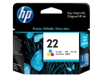 HP C9352AA (22) (原裝) (165pages) Ink - Color DJ 3920/3940/PCS 1402/1410/F380/5610/4355/4185/2280/F2280/1560
